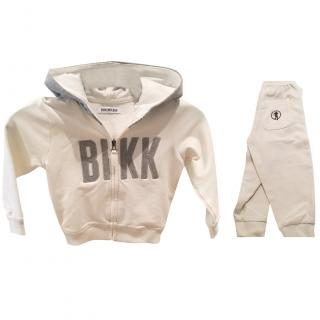 Bikkembergs grey/ecru  jogging suit