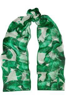 Dolce & Gabbana banana leaf print silk-chiffon scarf