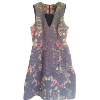 Alexander McQueen Printed cotton Faille dress