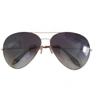 Victoria Beckham Feather Aviator Sunglasses