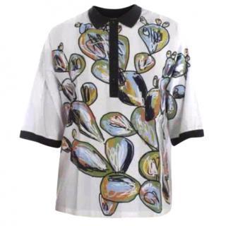 Dolce Gabbana Cactus Print Cotton T-Shirt