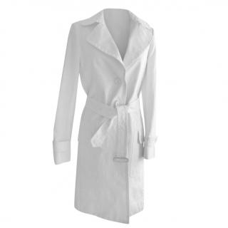 Burberry white Trench Coat