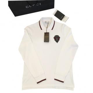 GUCCI Crest Long Sleeved Polo