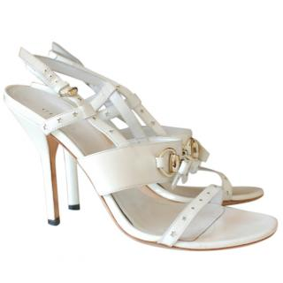 Gucci Chic White Leather Heels