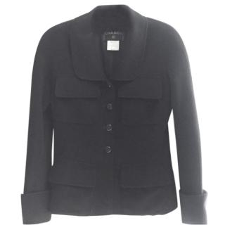 Chanel  Black Cashmere Jacket