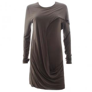 McQ Alexander McQueen Draped Jersey Dress