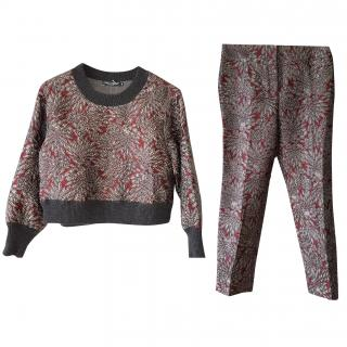 Dolce & Gabbana jacquard trousers and top