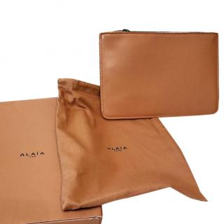Alaia Nude Leather Pouch with box