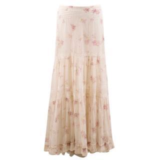 Ralph Lauren Maxi Floral Skirt