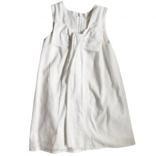 Chloe White Cotton Dress