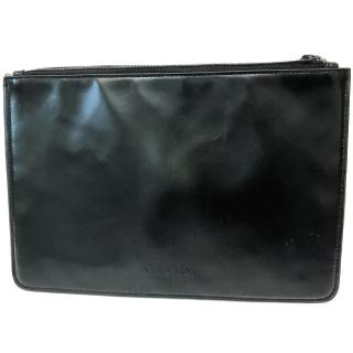 Alaia Black Leather Pouch