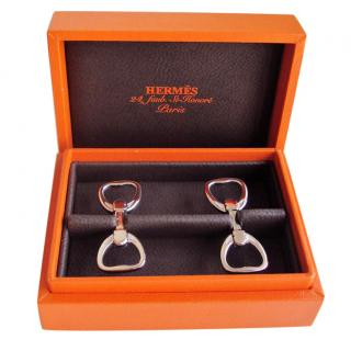 Hermes gold cufflinks
