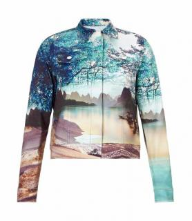 Mary Katrantzou Blue Denim Jacket Twist