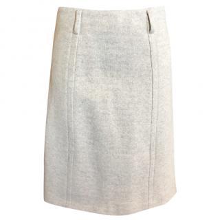 Prada Beige Wool Skirt