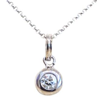 Diamond solitaire necklace 18ct gold 0.30ct