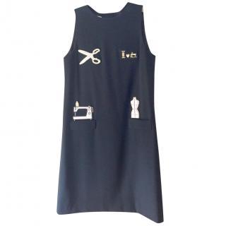 Moschino Black 'Sewing' Dress
