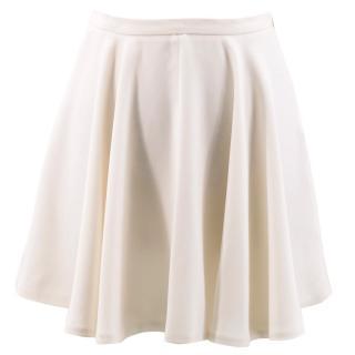 Maje Cream Flared Skirt