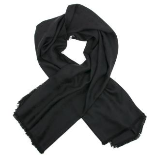 Louis Vuitton Black Silk Scarf/Shawl