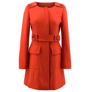 Red Valentino Red Wool Coat