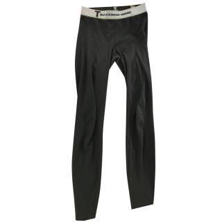 Alexander Wang waistband logo leggings