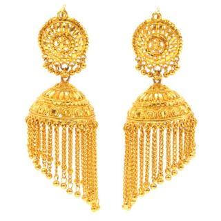 Pebble London Gold Chandelier Earrings