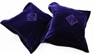 Ralph Lauren Home purple velvet cushion cover x2