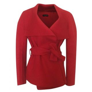 Joseph Red Wool And Cashmere Jacket