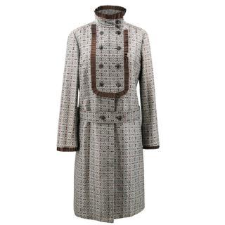 Derek Lam Silk Jacquard Coat