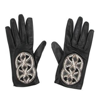 Chanel Lambskin Embellished Gloves