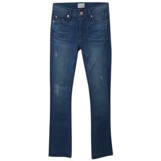 HUDSON JEANS Blue Denim Medium Waisted Skinny Jeans