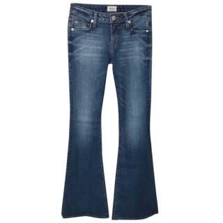 HUDSON JEANS Blue Denim Medium Waisted Flared Jeans
