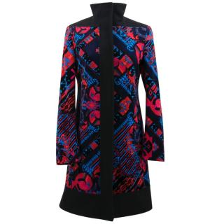 Versace Collection Velour Pattern Coat