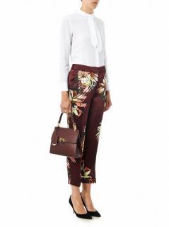 Erderm Giulia silk printed floral trousers pyjama style