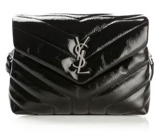 Saint Laurent black Y Matelasse patent leather toy loulou bag