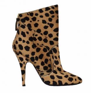 Balmain animal print ankle boots