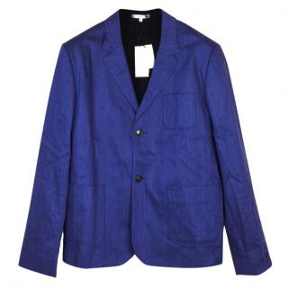 Carven linen and cotton blue jacket