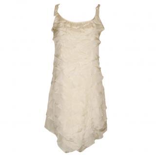 DESIGNERS REMIX COLLECTION cream silk dress, size 36