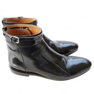 Jil Sander Lanika Black Patent Calf Leather Boot