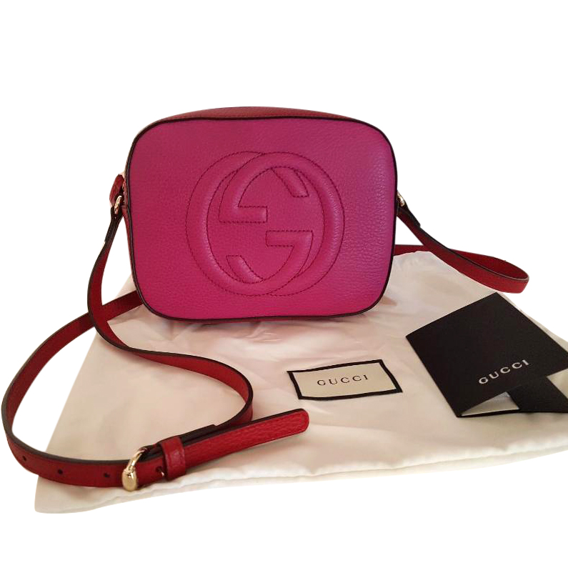 eeeed0922 Gucci Soho Disco Bag In Red And Fuschia | HEWI London