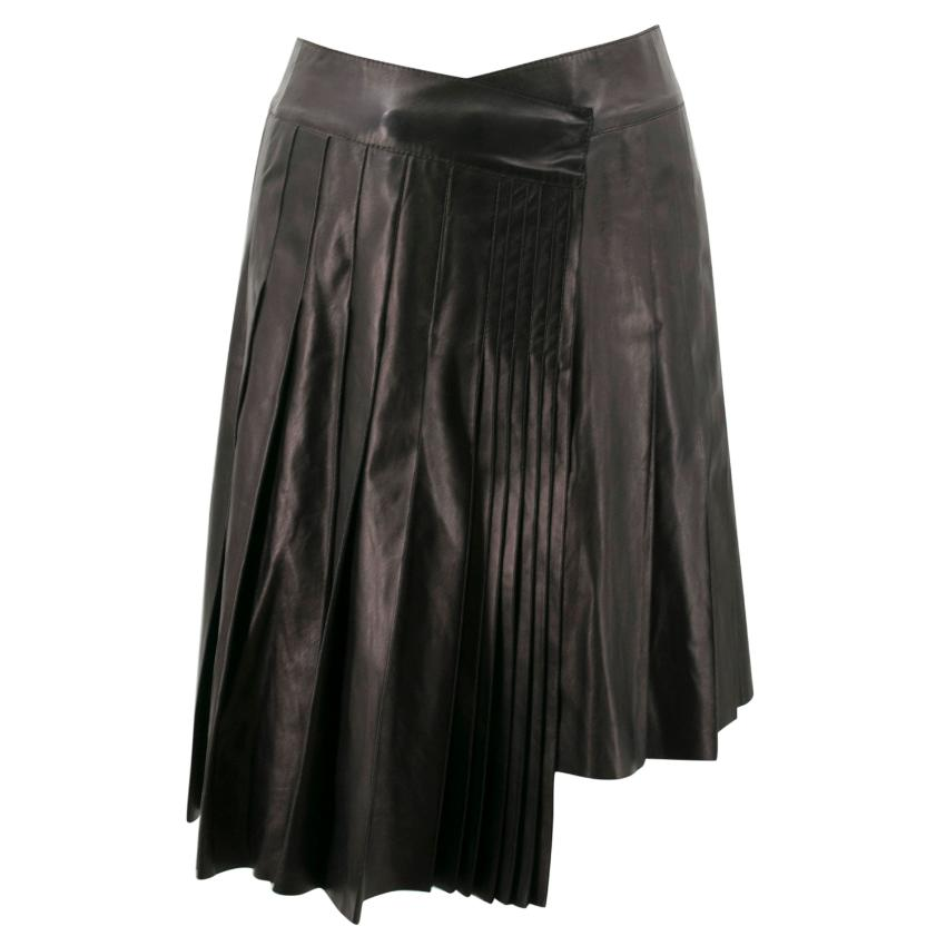 Mulberry Leather Black Skirt