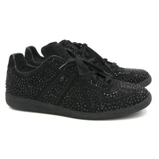 Maison Martin Margiela Replica Black Crystal Trainers