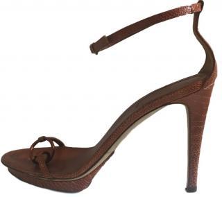 Sergio Rossi Brown Sandals