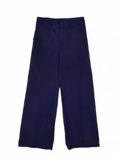 Jil Sander navy wide leg trouser