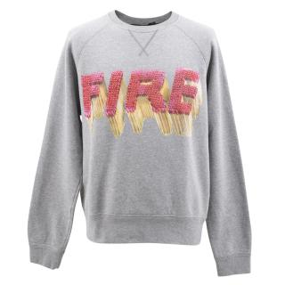 No.21 Graphic Print Sweater