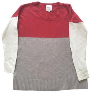Mason by Michelle Mason cashmere three tone sweater