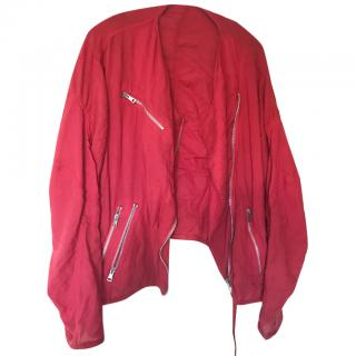 Acne red bomber jacket