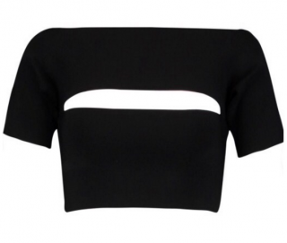 T By Alexander Wang black off the shoulder stretch top