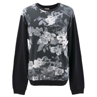 Wooyoungmi Black and White Floral Pattern Sweatshirt