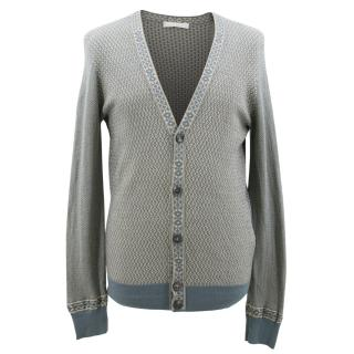 Alexandar McQueen Patterned V Neck Cardigan