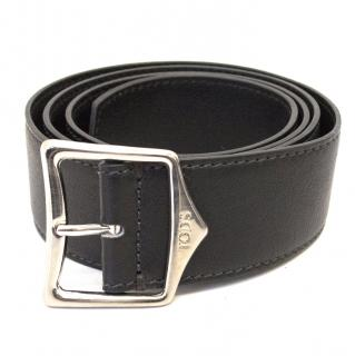 Tod's Black Leather Belt
